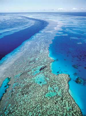 australia's barrier reef - sky view